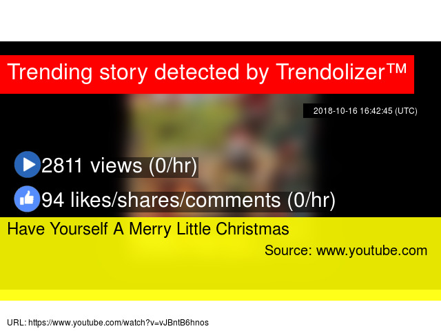 have yourself a merry little christmas stats - Have Yourself A Merry Little Christmas Youtube